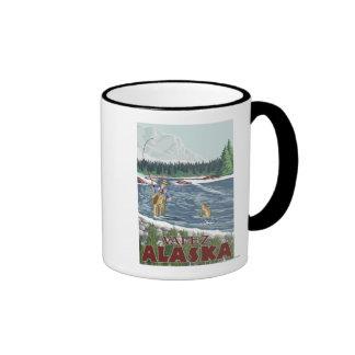 Fly Fisherman - Valdez, Alaska Coffee Mugs