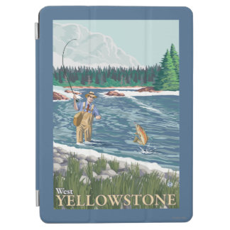 Fly Fisherman - West Yellowstone, Montana iPad Air Cover