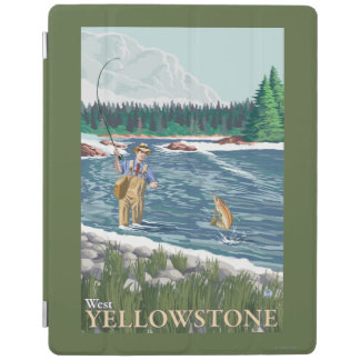 Fly Fisherman - West Yellowstone, Montana iPad Cover