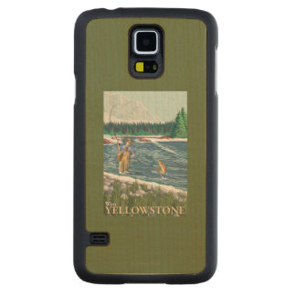 Fly Fisherman - West Yellowstone, Montana Maple Galaxy S5 Case