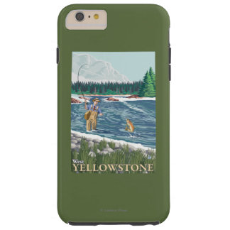 Fly Fisherman - West Yellowstone, Montana Tough iPhone 6 Plus Case