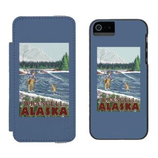 Fly Fisherman - Wrangell, Alaska Incipio Watson™ iPhone 5 Wallet Case