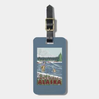 Fly Fisherman - Wrangell, Alaska Luggage Tag