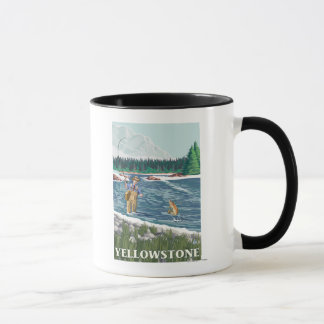 Fly Fisherman - Yellowstone National Park Mug