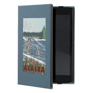Fly Fisherman - Yukon, Alaska Cases For iPad Mini