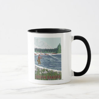 Fly FishermanSouth Dakota Mug