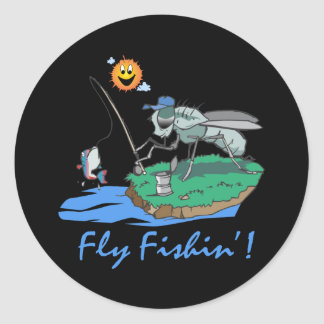 Fly Fishin' Classic Round Sticker