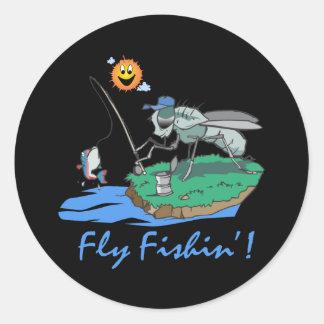 Fly Fishin' Round Sticker