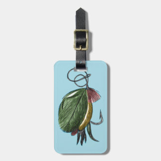 Fly Fishing Art Bag Tag