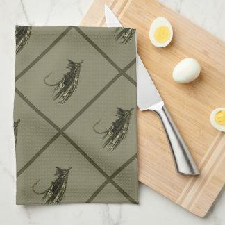 Fly Fishing Art Tea Towel
