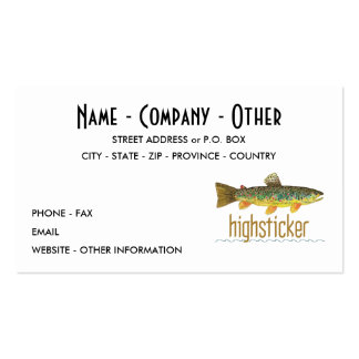 Fly Fishing Pack Of Standard Business Cards