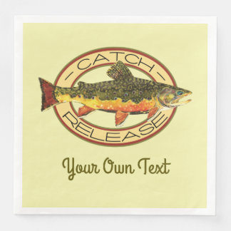 Fly Fishing Catch Release Party Disposable Serviette