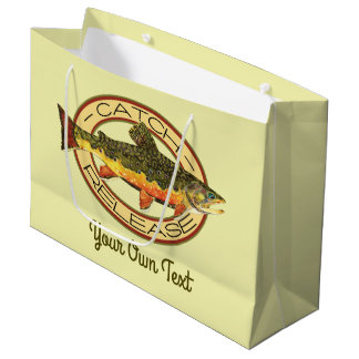Fly Fishing Catch Release Party Large Gift Bag