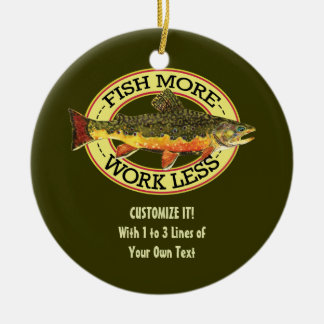 Fly Fishing Christmas Ornament