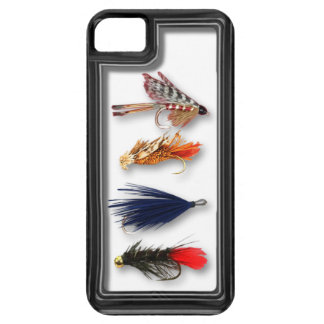 Fly fishing flies - realistic box iPhone 5 cover