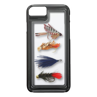 Fly fishing flies - realistic box iPhone 8/7 case