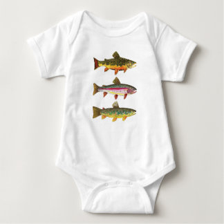 Fly Fishing for Trout Infant Creeper