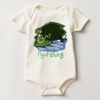 Fly Fishing Frog Baby Shirt