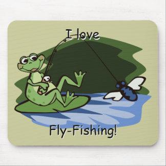 Fly Fishing Frog Mousepad