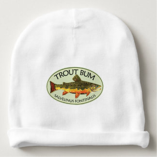 Fly Fishing Funny TROUT BUM Baby Beanie