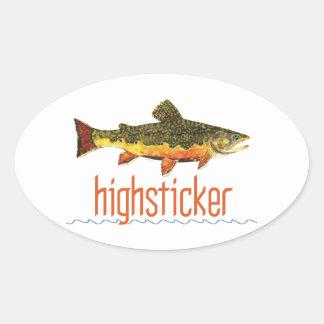 Fly Fishing Highsticker Oval Sticker