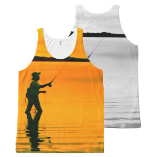 Fly Fishing image for All-Over-Printed-Unisex-Vest All-Over Print Tank Top