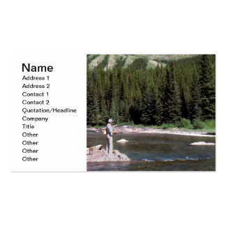 Fly fishing in the Alberta Rocky Mountains. Business Card