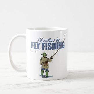 Fly Fishing in Waders Basic White Mug