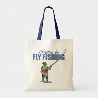 Fly Fishing in Waders Budget Tote Bag