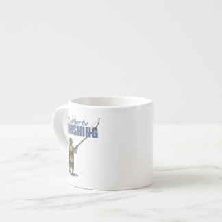 Fly Fishing in Waders 6 Oz Ceramic Espresso Cup