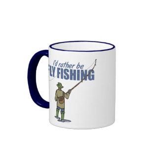 Fly Fishing in Waders Mugs