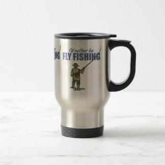 Fly Fishing in Waders Coffee Mug