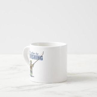 Fly Fishing in Waders Espresso Mug
