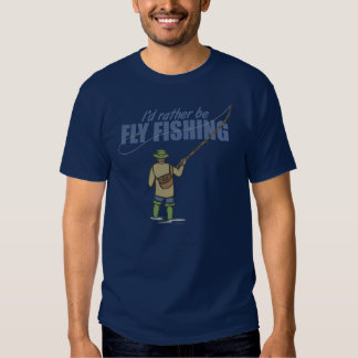 Fly Fishing in Waders T-shirts