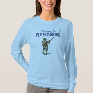 Fly Fishing in Waders T Shirts