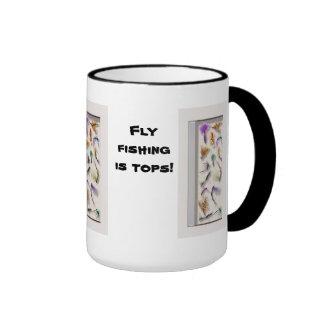 Fly fishing is tops ringer mug