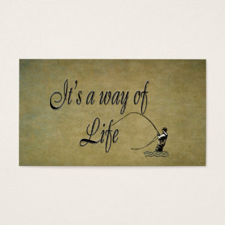 Fly fishing - It's a Way of Life Business Card