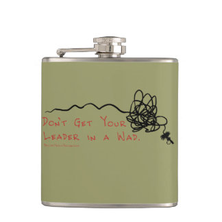 Fly Fishing Leader Hip Flask