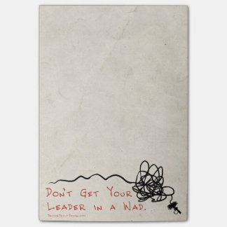 Fly Fishing Leader Post-it Notes