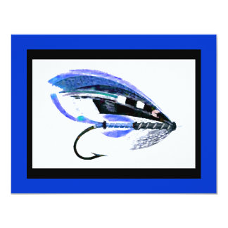Fly Fishing Lure graphic 11 Cm X 14 Cm Invitation Card