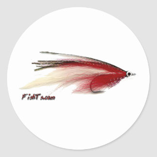 Fly Fishing Lures from the Tackle/Gear Collection Round Sticker