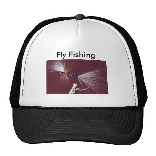 Fly fishing mesh hats zazzle for Fly fishing cap