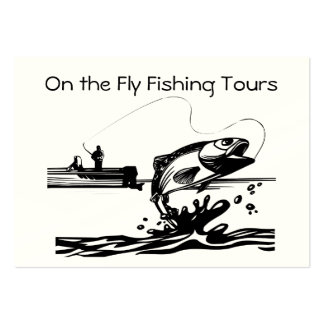 Fly Fishing on Lake Guiding Service Biz Pack Of Chubby Business Cards