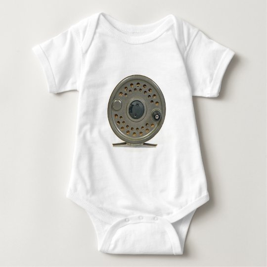 Fly Fishing Reel Baby Bodysuit