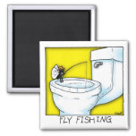 Fly Fishing Refrigerator Magnet