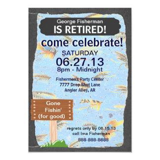 Fly Fishing Retirement Party celebration 13 Cm X 18 Cm Invitation Card
