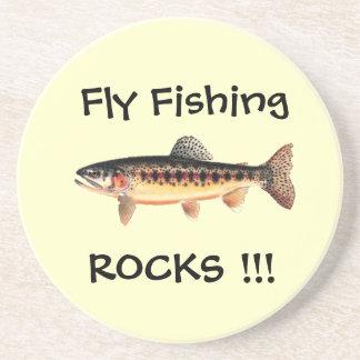 Fly Fishing Rocks Coasters
