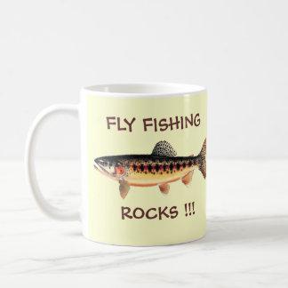 FLY FISHING ROCKS BASIC WHITE MUG