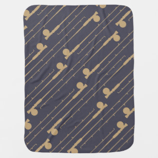Fly Fishing Rods Pattern Baby Blanket