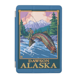 Fly Fishing Scene - Dawson, Alaska iPad Mini Cover